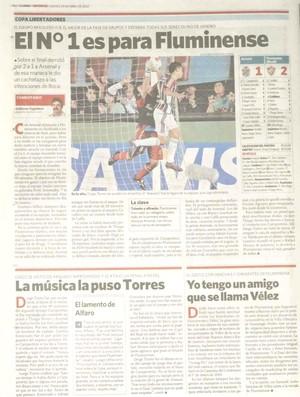 fluminense clarin repercussao (Foto: Reprodução Jornal Clarín)
