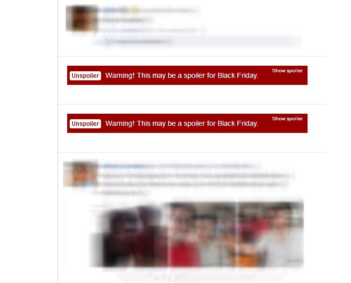 Unspoiler bloqueia conteúdo e coloca aviso em vermelho no lugar (Foto: Reprodução/Paulo Alves) (Foto: Unspoiler bloqueia conteúdo e coloca aviso em vermelho no lugar (Foto: Reprodução/Paulo Alves))