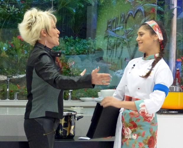 Jessika Alves é a primeira eliminada do Super Chef Celebridades (Foto: Mais Você/TV Globo)