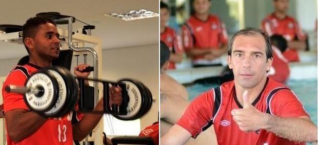 Deivid e Paulo Baier, do Atlético-PR (Foto: Site oficial do Atlético-PR/Divulgação)