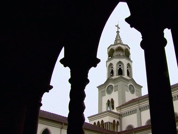 Mosteiro de Claraval, MG (Foto: Luciano Tolentino / EPTV)
