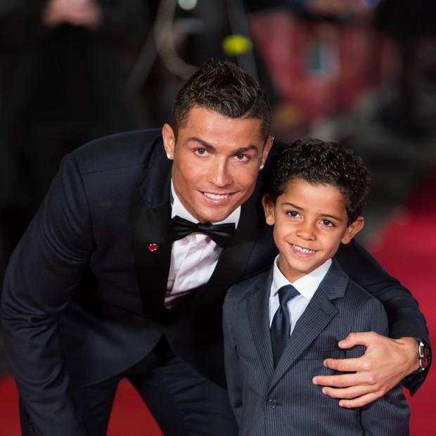 Cristiano Ronaldo e Cristiano Ronaldo Jr (Foto: getty images)