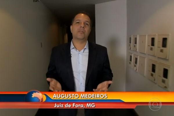 Repórter Augusto mostrou os prejuízos de comerciantes com queda no movimento.  (Foto: Divulgação)