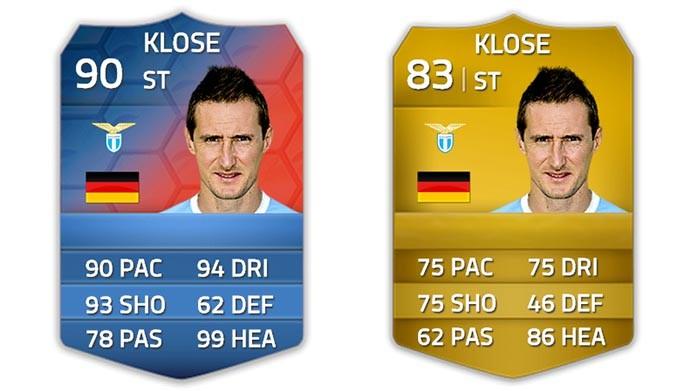 Klose ganhou uma nova carta comemorativa (Foto: Reprodução/Murilo Molina)