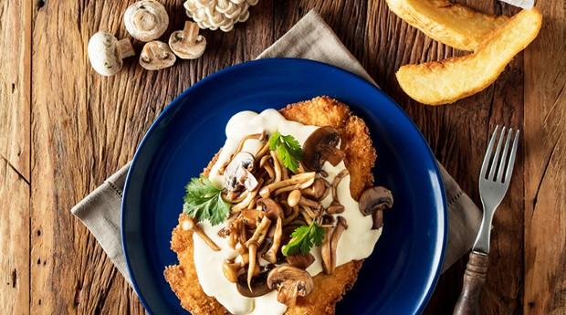 Milanesa de cogumelos do Muy! (Foto: Divulgação)