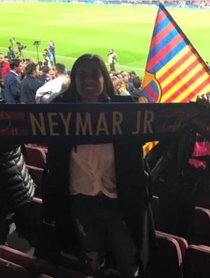 Andressa Alves no jogo do Barça