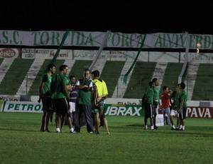 Coritiba elenco gramado Sousa jogo cancelado (Foto: Divulgação / site oficial do Coritiba)