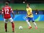 """Rodrigo Caio pensa em maneiras  de parar Messi e admite: """"Dureza"""""""