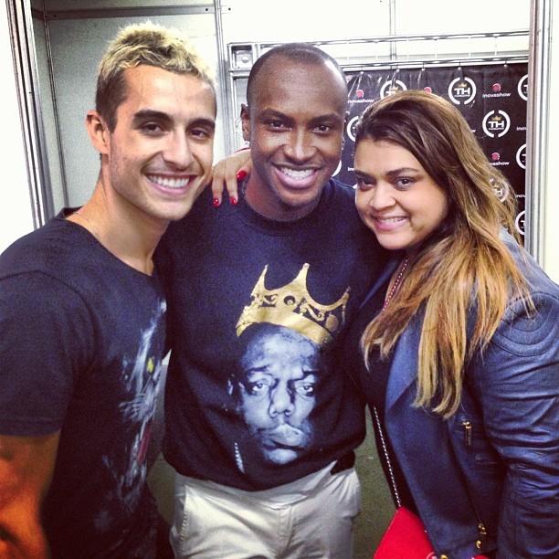 Preta Gil com o namorado, Thiago Tenório, e com Thiaguinnho em Patos de Minas, Minas Gerais (Foto: Instagram/ Reprodução)