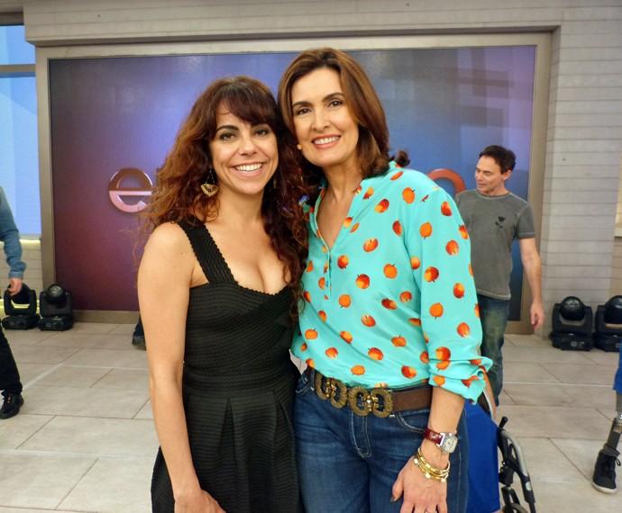 Fátima com a atriz Paula Cohen (Foto: Viviane Figueiredo Neto/Gshow)