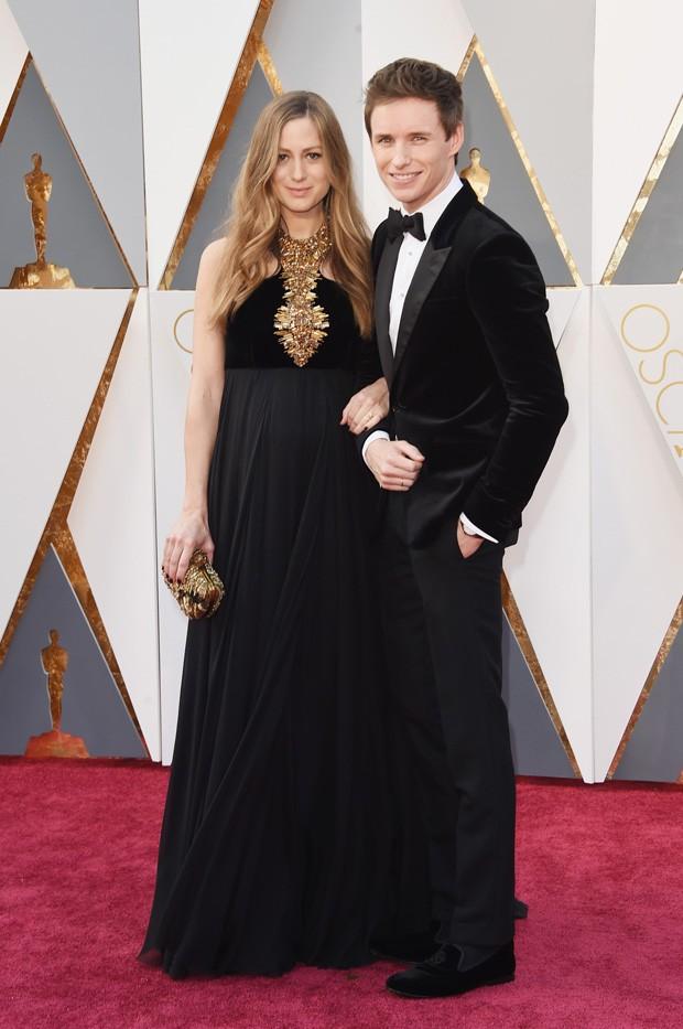 Oscar 2016 - Eddie Redmayne e Hannah Redmayne  (Foto: GNT)
