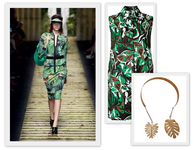 Desfile Max Mara/ Primavera-verão 2017; Blusa de algodão Andrea Marques, R$ 542; Choker Dress To, R$ 159 (Foto:  Eduardo Rezende / IMax Tree / Divulgação)