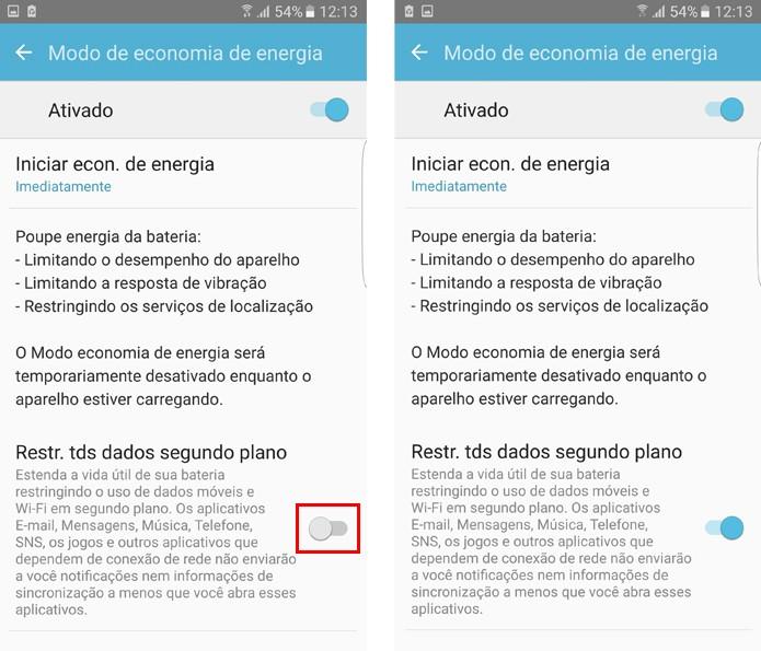 Restrinja os dados em segundo plano no Galaxy S7  (Foto: Reprodução/Aline Batista)