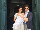 Sophie Charlotte e Daniel de Oliveira postam foto de batizado do filho