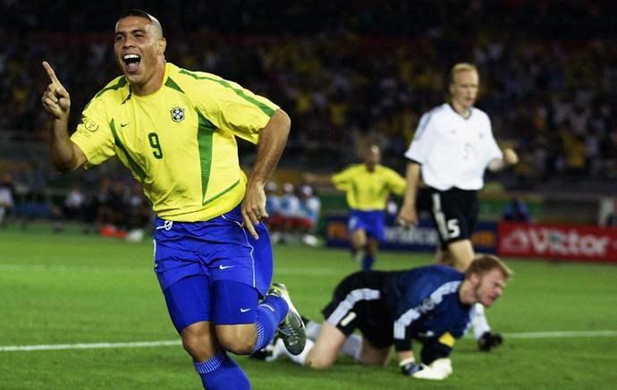 92e81bad05584 ronaldo brasil alemanha copa do mundo 2002 (Foto: Agência Getty Images)