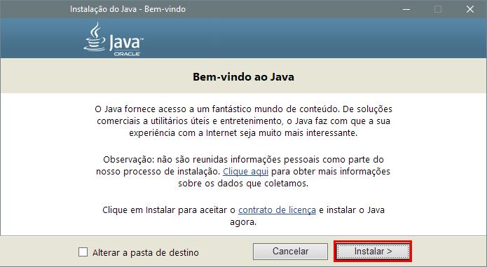 Instale o Java no PC offline (Foto: Reprodução/Paulo Alves)