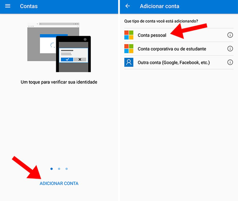 Adicione sua conta da Microsoft (Foto: (Foto: Reprodução/Paulo Alves))