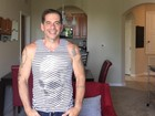 Leandro Hassum mostra o novo físico em foto de corpo inteiro