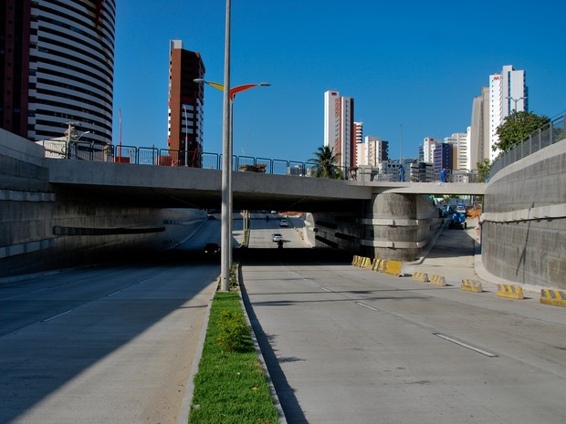 Alça do novo túnel da Avenida Engenheiro Santana Júnior será liberada no próximo sábado (Foto: Divulgação/Seinf)