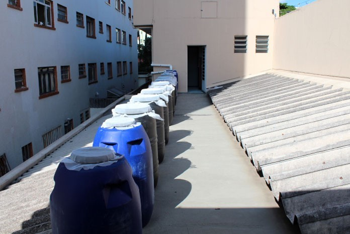Sistema de reúso da água montado em empresa
