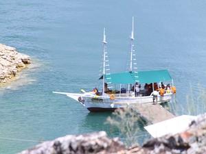Lago de Furnas é opção para turistas no Carnaval (Foto: Anna Lúcia Silva/ G1)