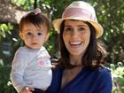 'É uma loucura, mas eu adoro!', revela Fernanda Pontes sobre maternidade e TV