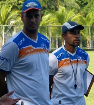 Moura Ribeiro e Eduardo Allax (Foto: Vitor Costa/Duque de Caxias FC)