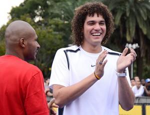 Anderson Varejão evento basquete São Paulo (Foto: Mauro Horita)