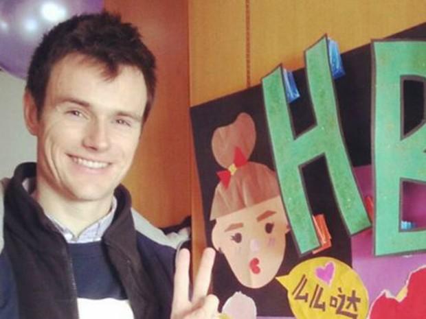 Após acidente de carro, jovem australiano esqueceu temporariamente o inglês e só se expressava em mandarim  (Foto: Arquivo pessoal)