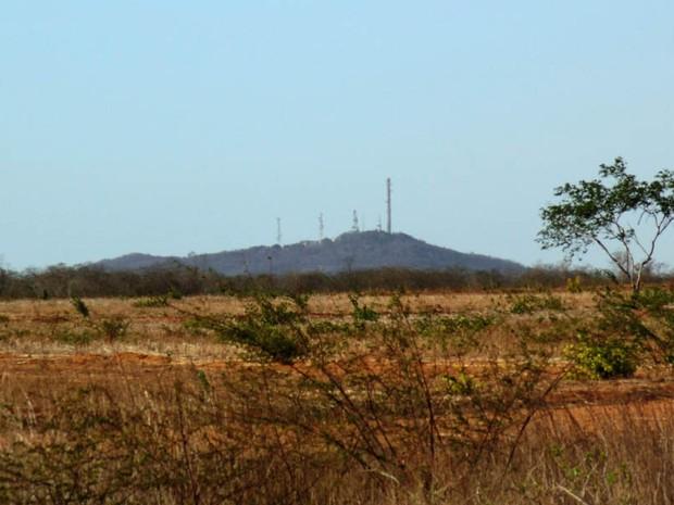 Santuário será construído no alto da Serra de Mossoró (Foto: Fernanda Zauli/G1)