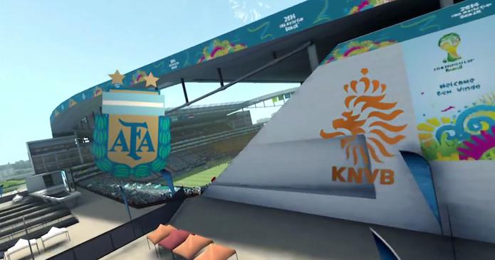 Simulação Copa do Mundo Fifa 2014: Argentina x Holanda (Foto: Reprodução/Murilo Molina)