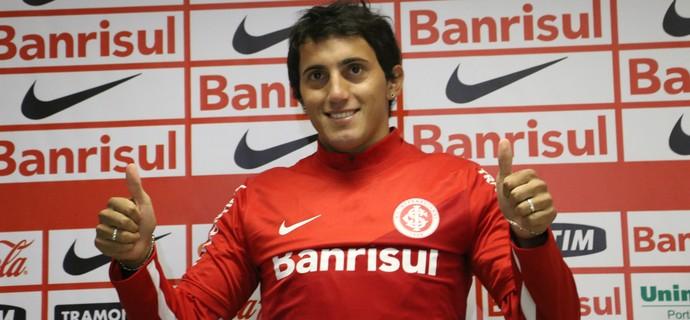 Luque é apresentado como jogador do Inter (Foto: Vinícius Guerreiro/GloboEsporte.com)
