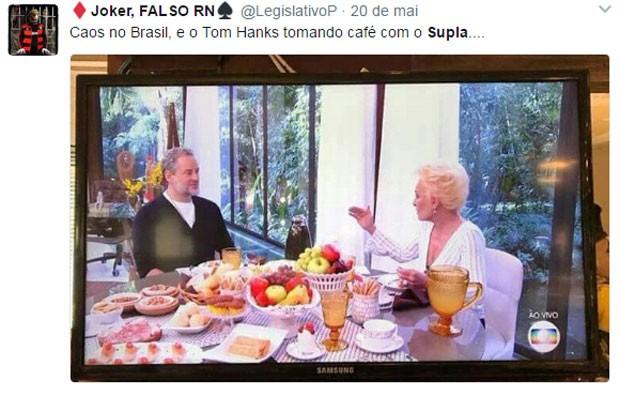 Ana Maria Braga é compara com Supla e Dan Stulbach com Tom Hanks (Foto: Reprodução)