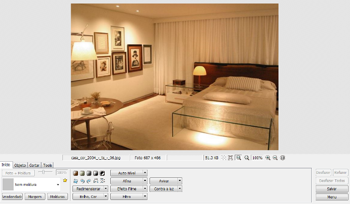 O Photoscape oferece várias ferramentas para edição de imagens (Foto: Reprodução/Lívia Dâmaso)