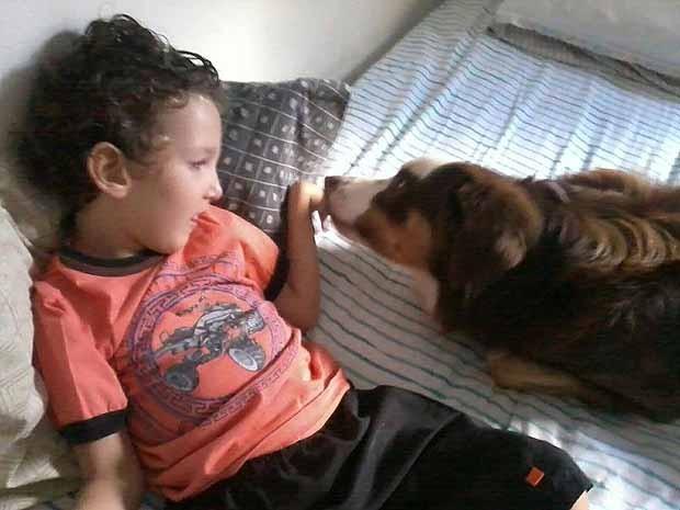 Cahorro tratamento criança Uberlândia (Foto: Arquivo Pessoal/Karolina Cordeiro)
