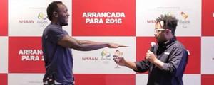 Marcelo Marrom tem desafio com Usain Bolt de correr 100m em 16s (Divulgação)