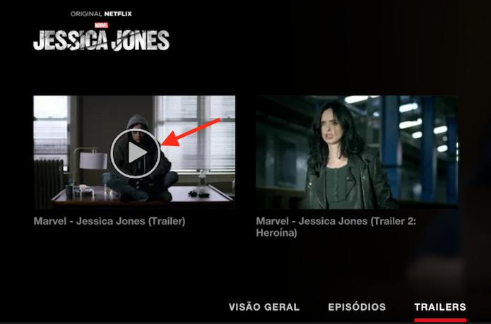 Iniciando um trailer no Netflix (Foto: Reprodução/Marvin Costa)