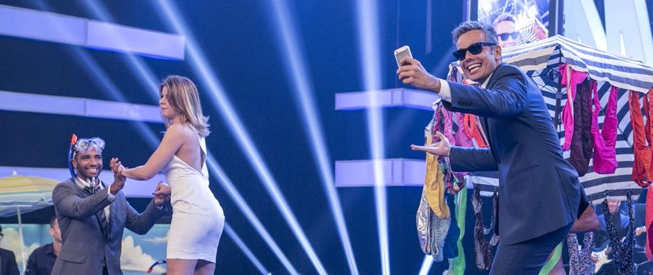 Quais selfies você mais curtiu: do Otaviano Costa ou da Mariana Santos? (Inácio Moraes / Gshow)