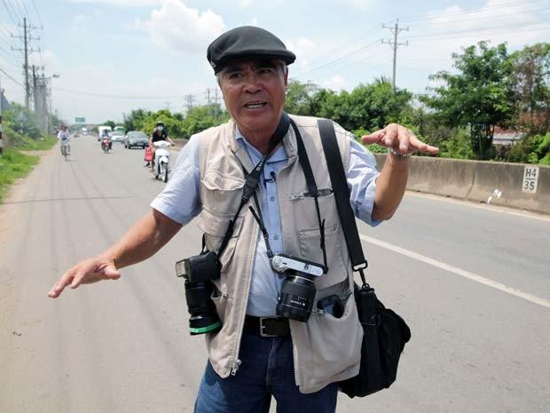 Nick Ut volta ao lugar onde tirou foto icônica de menina durante a Guerra do Vietnã (Foto: AP Photo/Na Son Nguyen)