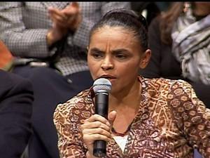 Marina Silva lança novo partido político: Rede Sustentabilidade (Foto: Reprodução Globo News)