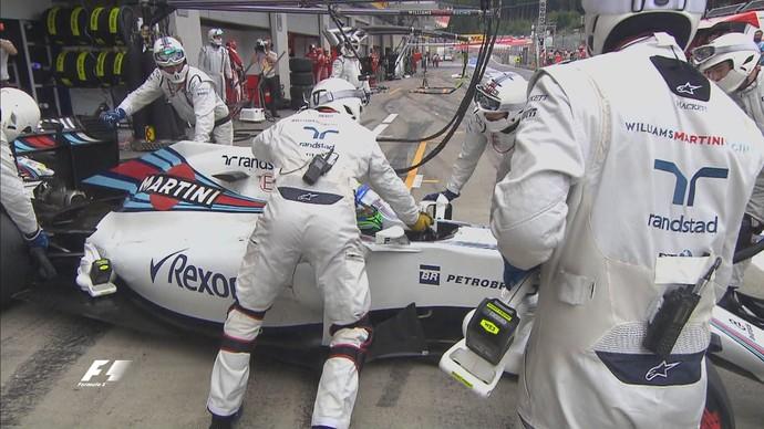 Felipe Massa abandonou o GP da Áustria (Foto: Divulgação)