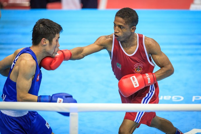 Paulo Santos Carvalho final boxe Jogos Mundiais Militares (Foto:  sargento Johnson)