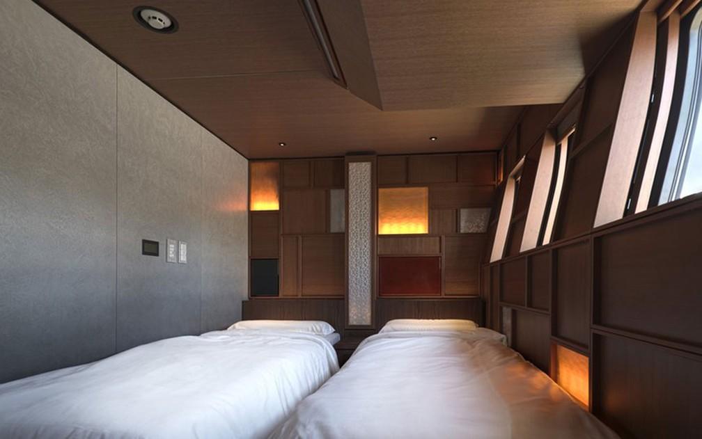 Os vagões-dormitórios também prezam pelo requinte. As viagens podem incluir um ou três pernoites (Foto: JR East)
