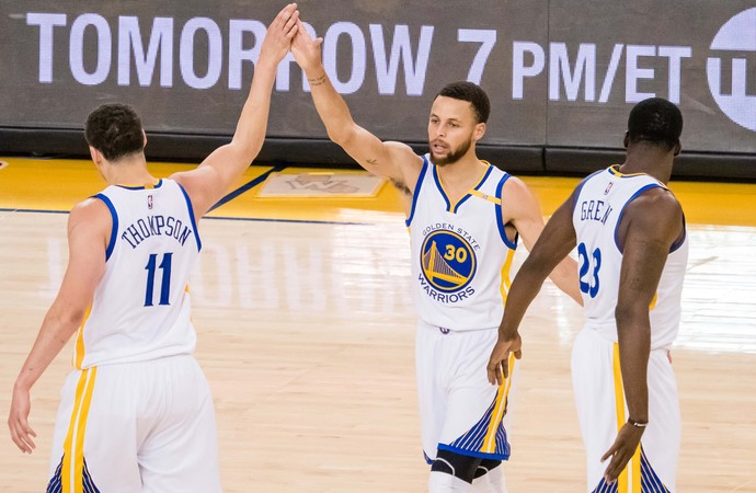 Stephen Curry Warriors x Blazers NBA (Foto: Reuters)