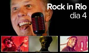 Metallica comanda noite que teve Sepultura, Ghost e Alice in Chains (Arte/G1)