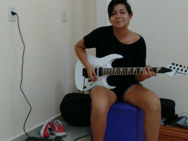 Adolescente fazia parte da banda de uma igreja envagélica que frequentava na cidade de Ananindeua. (Foto: José Alex Ramos/ Arquivo pessoal)