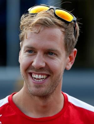 Sebastian Vettel era só sorrisos após classificatório do GP da Itália, em Monza (Foto: Getty Images)