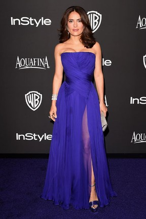 Salma Hayek em festa em Los Angeles, nos Estados Unidos (Foto: Jason Merritt/ Getty Images/ AFP)
