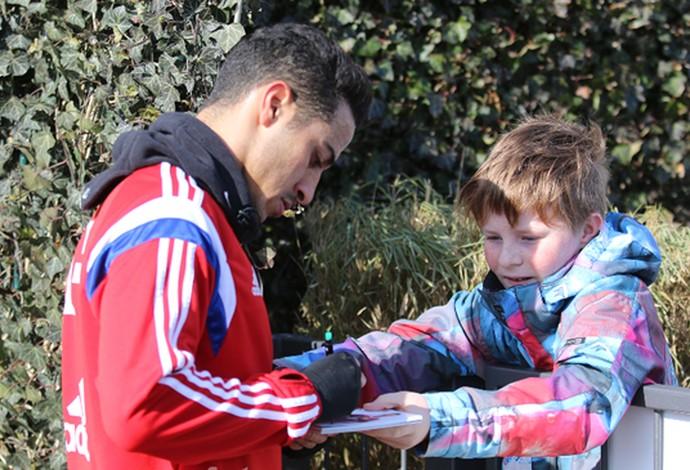 thiago Alcântara volta a treinar no Bayern (Foto: Reprodução)