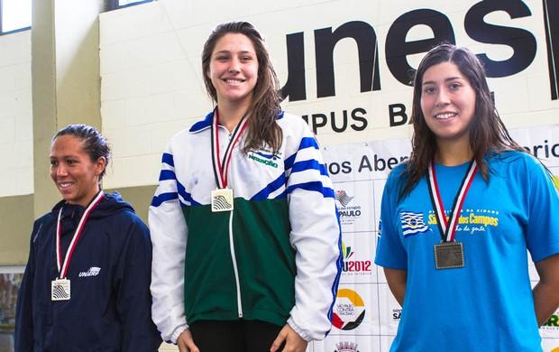 Primeiras medalhistas do Jogos Abertos 2012 (Foto: Wilian Olivato / Lettera Comunicação)